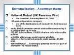 demutualisation a common theme2