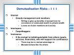 demutualisation risks i i i