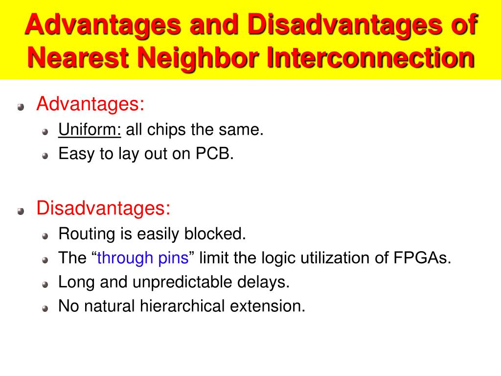 Advantages and Disadvantages of Nearest Neighbor Interconnection