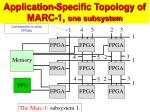 application specific topology of marc 1 one subsystem