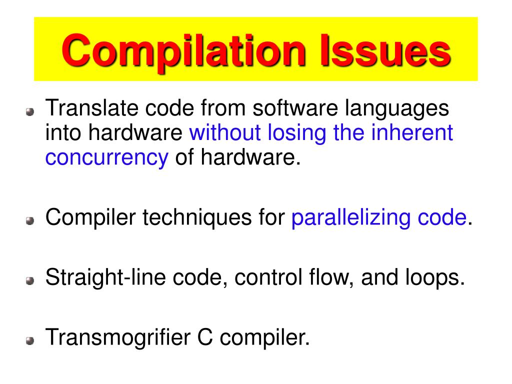 Compilation Issues