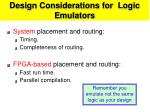 design considerations for logic emulators28