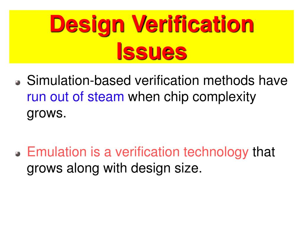 Design Verification Issues