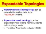 expandable topologies
