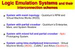 logic emulation systems and their interconnection schemes