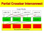 partial crossbar interconnect