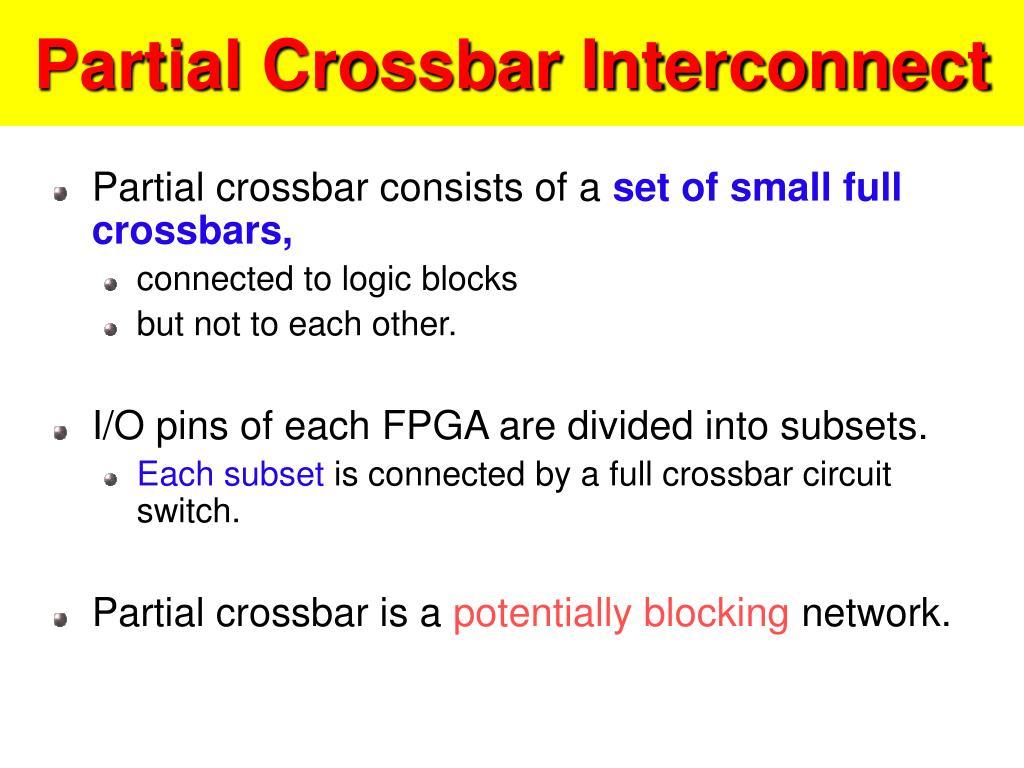Partial Crossbar Interconnect