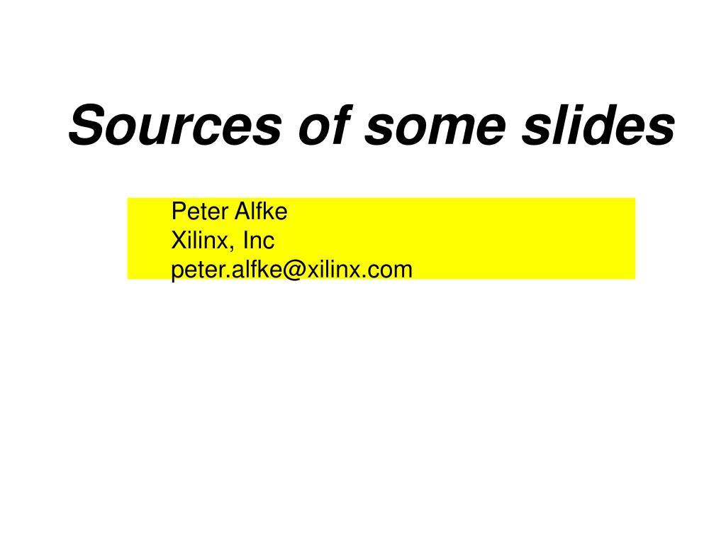 Sources of some slides