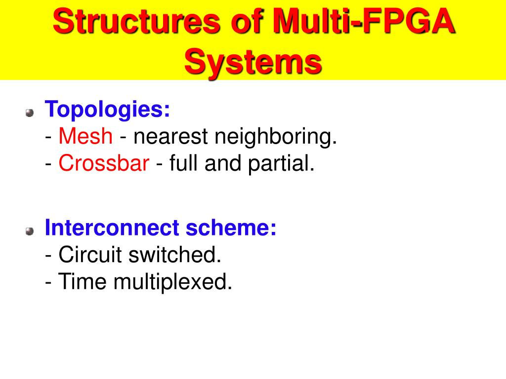 Structures of Multi-FPGA Systems