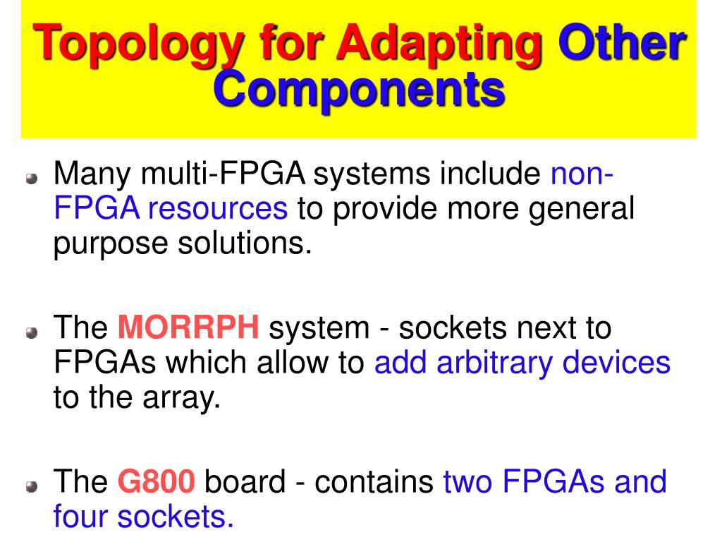 Topology for Adapting