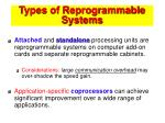 types of reprogrammable systems45