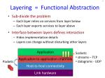 layering functional abstraction