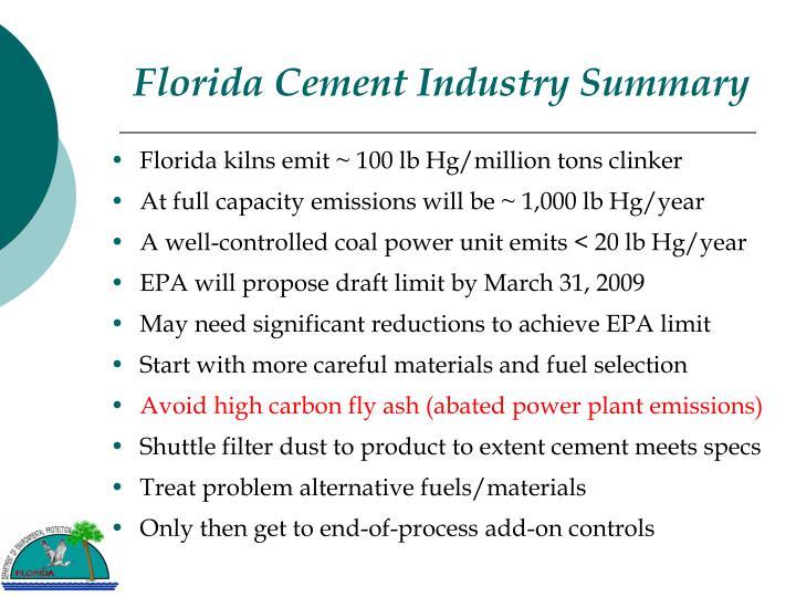 Florida Cement Industry Summary