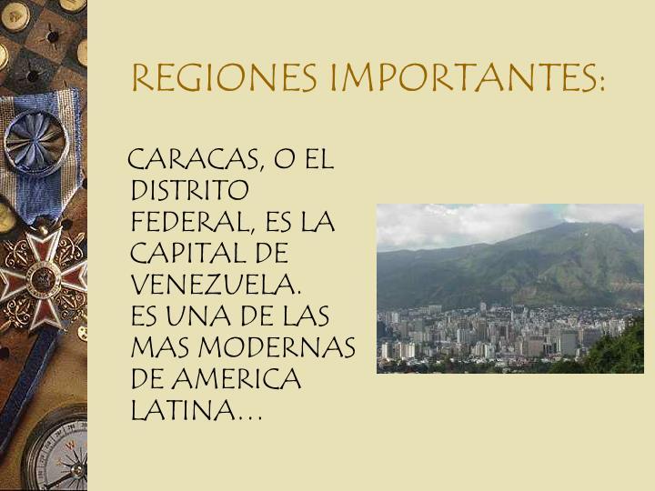 Regiones importantes