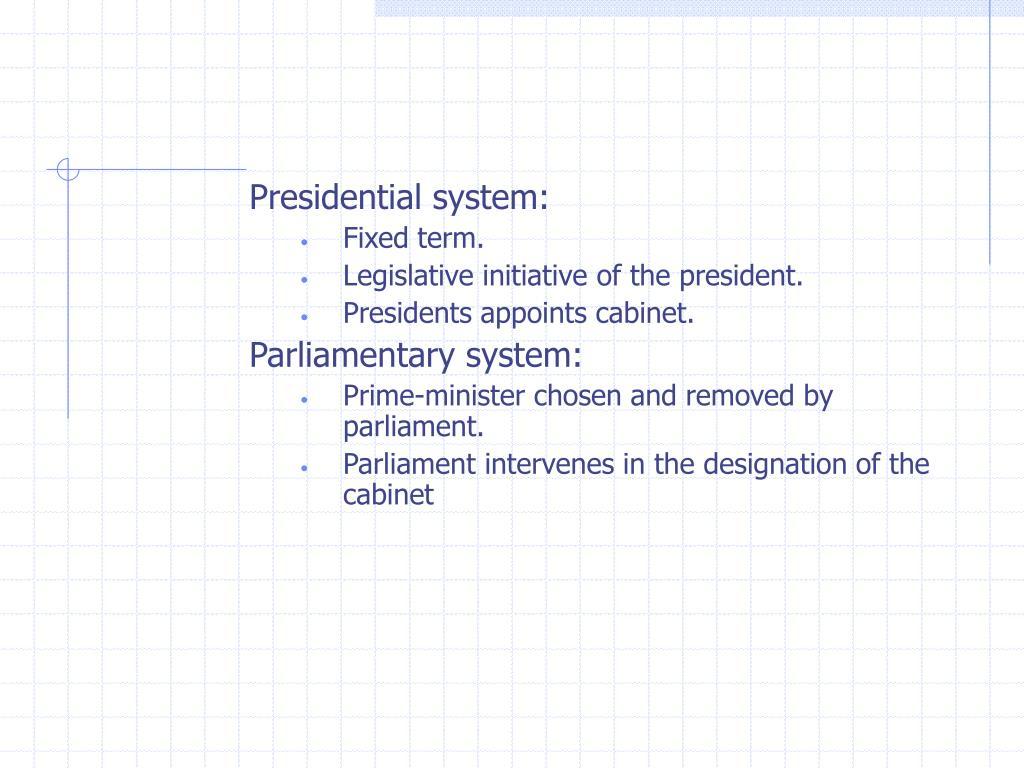 Presidential system:
