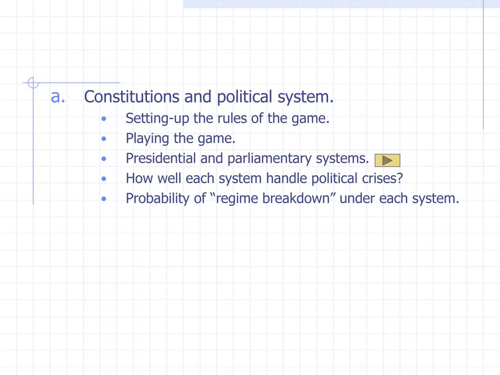 Constitutions and political system.