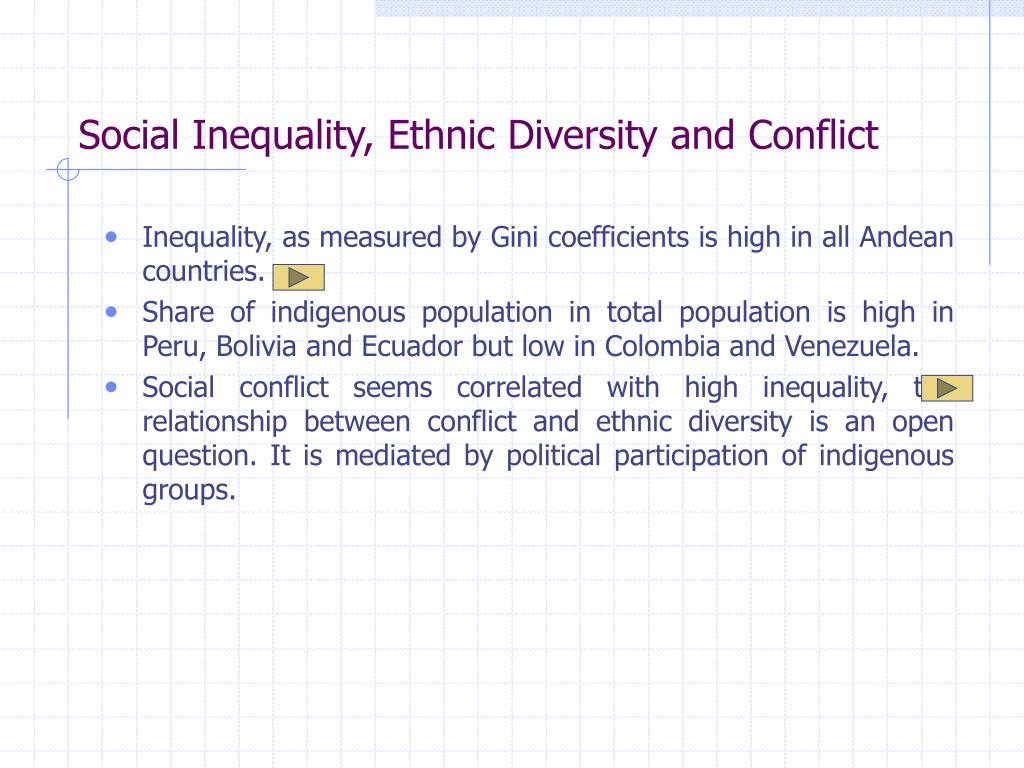Social Inequality, Ethnic Diversity and Conflict