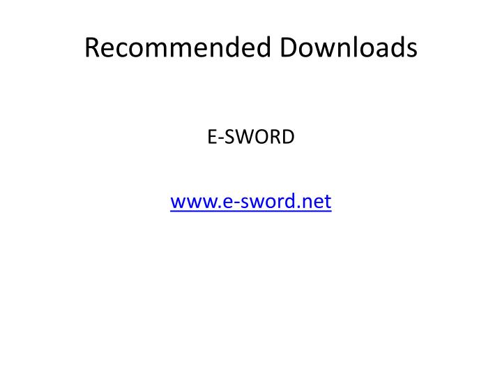 recommended downloads n.