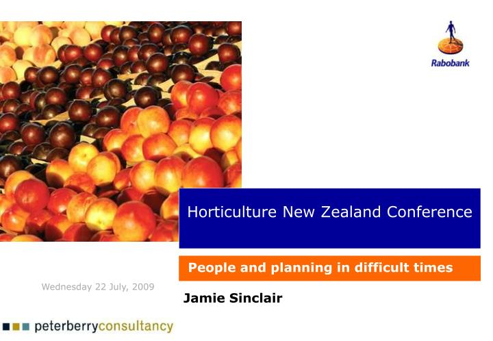 Horticulture new zealand conference