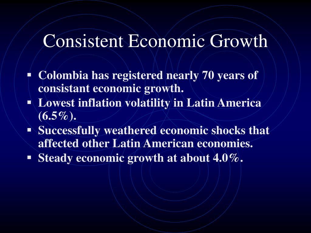 Consistent Economic Growth
