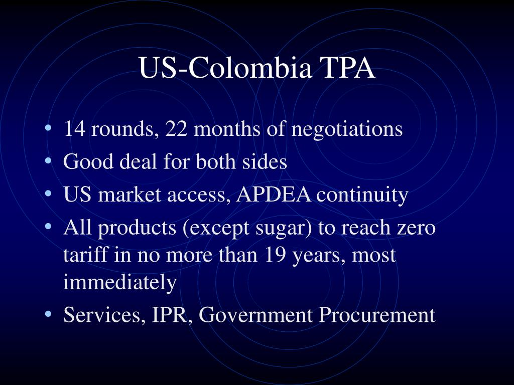 US-Colombia TPA
