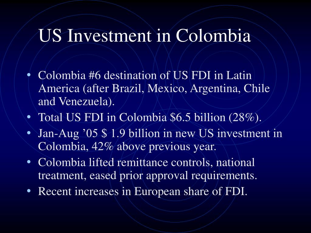 US Investment in Colombia