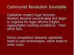 communist revolution inevitable