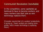 communist revolution inevitable26