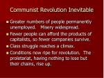 communist revolution inevitable27