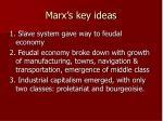marx s key ideas