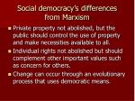 social democracy s differences from marxism