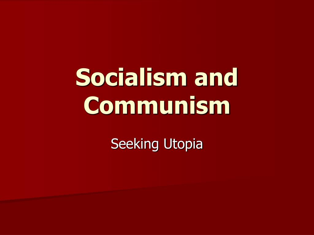 socialism and communism l.