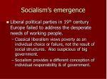socialism s emergence