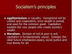 socialism s principles