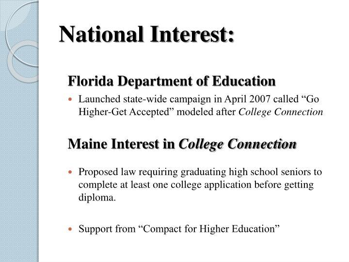 National Interest: