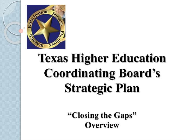 Texas Higher Education Coordinating Board's
