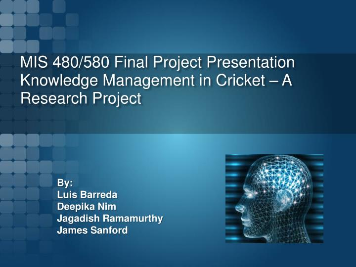 final research project Draft final research report: instructions for awardee the final research report is one element of pcori's effort to projects and research projects.