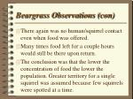 beargrass observations con