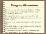 beargrass observations