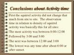 conclusions about activity time