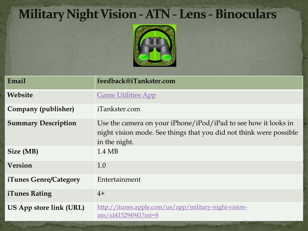 military night vision atn lens binoculars l.