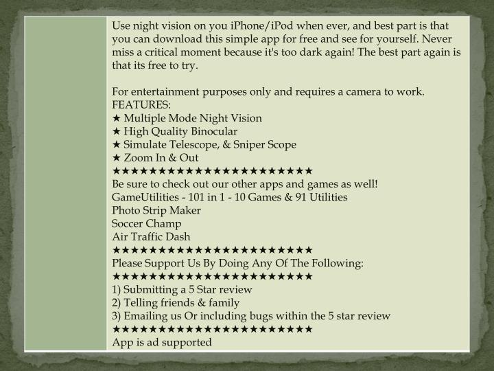 Military night vision atn lens binoculars