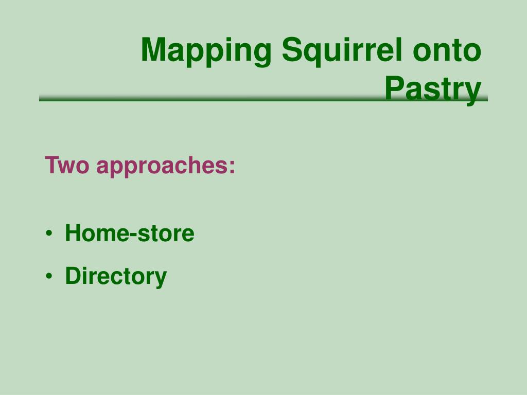 Mapping Squirrel onto Pastry
