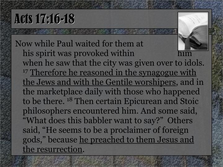Acts 17:16-18