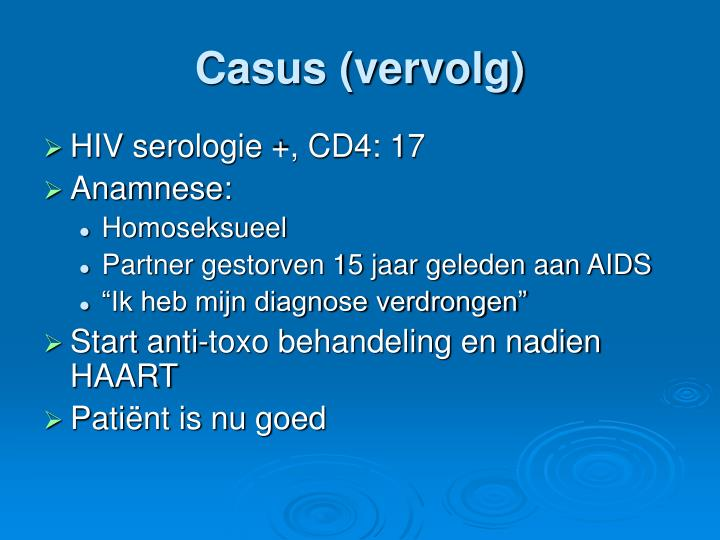 Casus (vervolg)