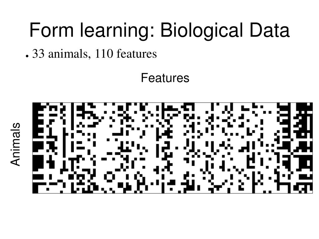 Form learning: Biological Data