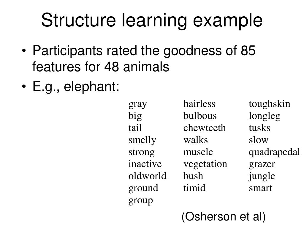 Structure learning example