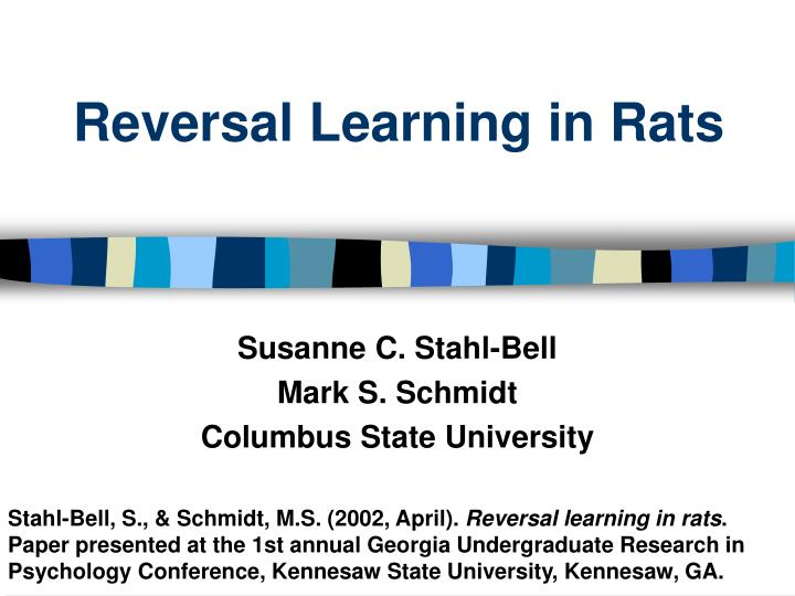 Reversal learning in rats