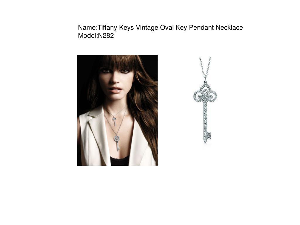 name tiffany keys vintage oval key pendant necklace model n282 l.