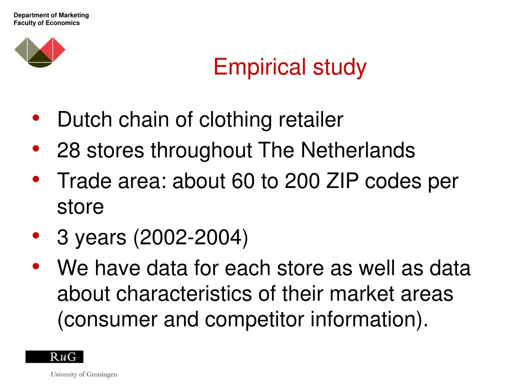 PPT - Store location: Evaluation and Selection based on
